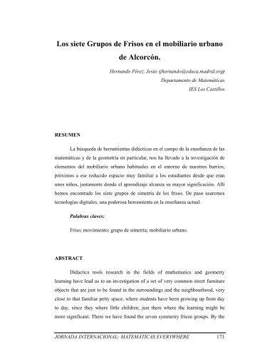 Los siete Grupos de Frisos en el mobiliario urbano de Alcorcón