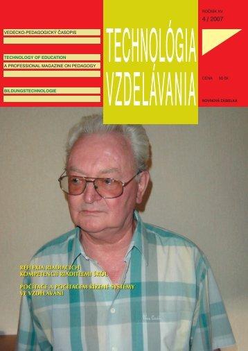4 / 2007 reflexia riadiacich kompetencií riadite¼mi škôl počítače a ...