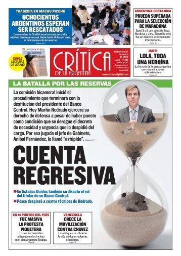OCHOCIENTOS ARGENTINOS ESPERAN SER RESCATADOS ...