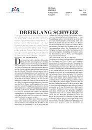 DREIKLANG SCHWEIZ - Swiss Finance Institute