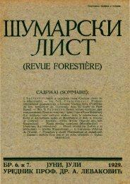 ŠUMARSKI LIST 6-7/1929