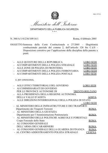 circolare esplicativa - Ministero Dell'Interno