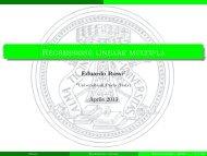 Modello di regressione lineare multipla (cap.6) - Economia