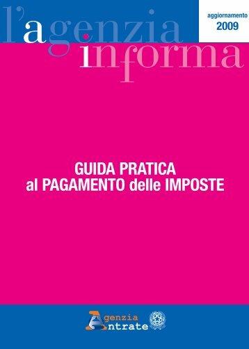 GUIDA PRATICA al PAGAMENTO delle IMPOSTE - Agenzia delle ...