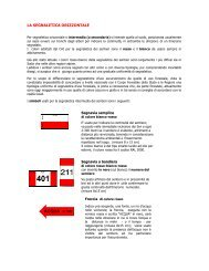 LA SEGNALETICA ORIZZONTALE - Club Alpino Italiano