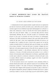 467 PARTE TERZA L' OMESSO RIFERIMENTO DELL' ANALISI DEI ...