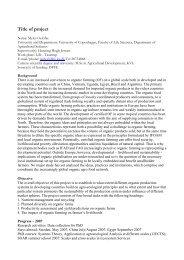 Optimering af dyrkningsmedier til økologiske ... - okoforsk