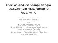 Effect of Land Use Change on Agro- ecosystems in Kijabe/Longonot ...