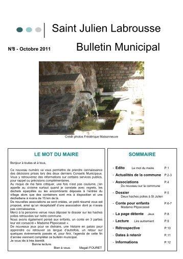 BULLETIN N°8 - Saint-Julien-Labrousse