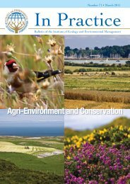 Agri-Environment and Conservation - Department of Zoology ...