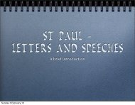 Letters and Speeches - Tarsus.ie