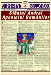 Sfântul Andrei Apostolul Românilor - Argesul Ortodox