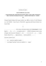 Schema di contratto di concessione del servizio di asilo nido