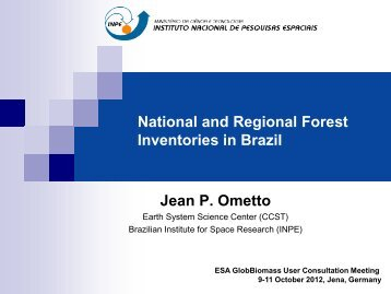 (Inventories): National and Regional Forest - Data User Element - ESA