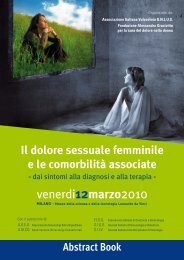 Abstract Book - Associazione Vulvodinia
