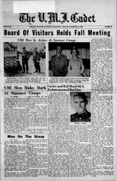 The Cadet. VMI Newspaper. September 30, 1960 - New Page 1 ...