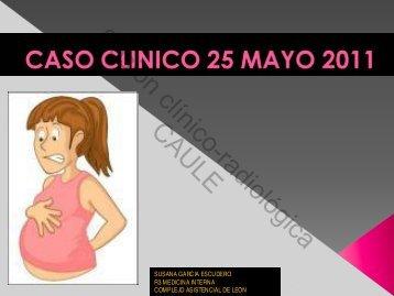 Sesión clínico-radiológica CAULE - Servicio de Medicina Interna del ...
