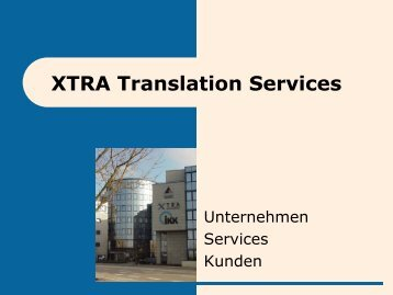 Unsere Kunden - XTRA Translation Services