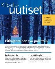 Kilpailu viraston uutislehti 3 · 2009