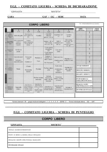 fgi – comitato liguria - scheda di dichiarazione - Comitato Regionale ...