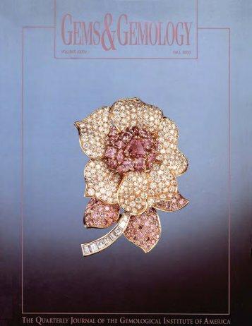 Fall 2000 Gems & Gemology - Gemfrance