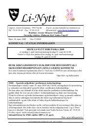 Li-Nytt uke 13 - Lierne kommune