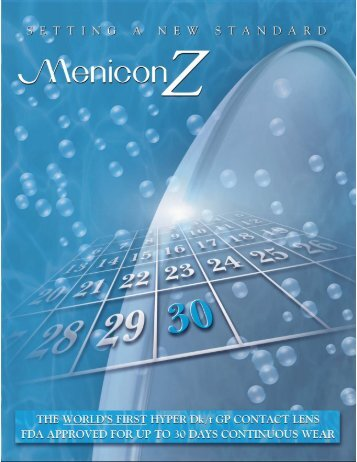 Menicon Z Information Sheet - Art Optical Contact Lens, Inc.