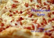 Flammkuchen- Karte - Landhaus Schaaf