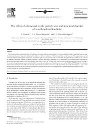 The effect of ultrasound on the particle size - Biblioteca Universitaria ...