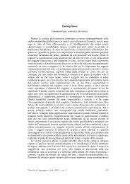Pierluigi Basso Fenomenologia, semiotica ed estetica Mentre le ...