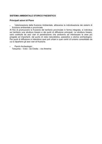 relazione generale - Provincia di Viterbo