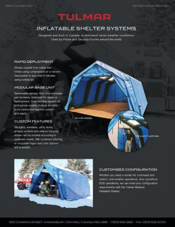 Inflatable Shelter Systems