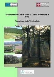 Area forestale: Valle Strona, Cusio, Mottarone e ... - Sistema Piemonte