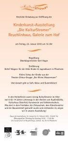 """Kinderkunst-Ausstellung """"Die KulturStromer"""" - Kunstverein ... - Page 2"""