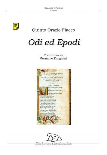 Orazio, Odi ed Epodi - Trad. italiana di G. Zanghieri - Led on Line