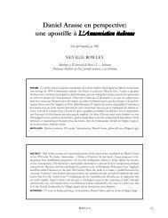 Daniel Arasse en perspective: une apostille à L ... - Unicamp