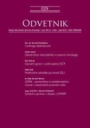 Revija Odvetniške zbornice Slovenije / Leto XIV, št. 1 (55)