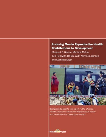 Involving Men in Reproductive Health - UN Millennium Project