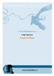 Luigi Capuana Il mulo di Rosa - Liber Liber