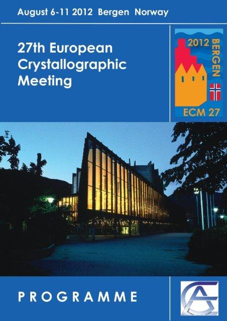 ECM 27 Programme Book - ECM27 - European Crystallographic ...