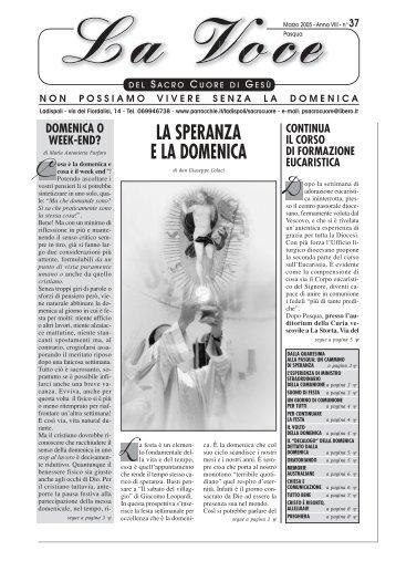 La Voce n°37 - Pasqua05 - Parrocchia Sacro Cuore di Gesù ...