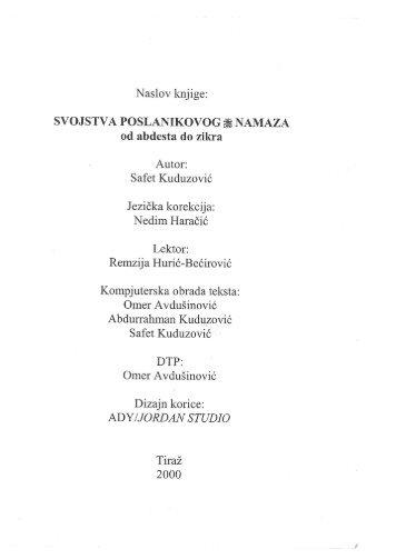 Svojstva poslanikovog namaza(kuduzovic).pdf - Sahwa