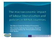 The macro economic impact of labour liberalization and ... - Femise
