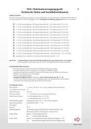 NVG (Notstromversorgungsgerät) Technische Daten und ...