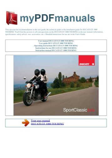 Ducati user manuals user manuals array use and maintenance manua rh yumpu com fandeluxe Image collections
