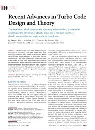 Recent Advances in Turbo Code Design and Theory
