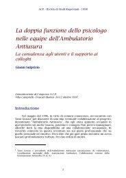 La doppia funzione dello psicologo nelle equipe dell ... - ACP