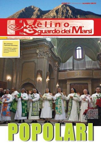 Il Velino, lo Sguardo dei Marsi Anno III, numero 35/01 del 15 ...