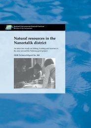 Natural resources in the Nanortalik district