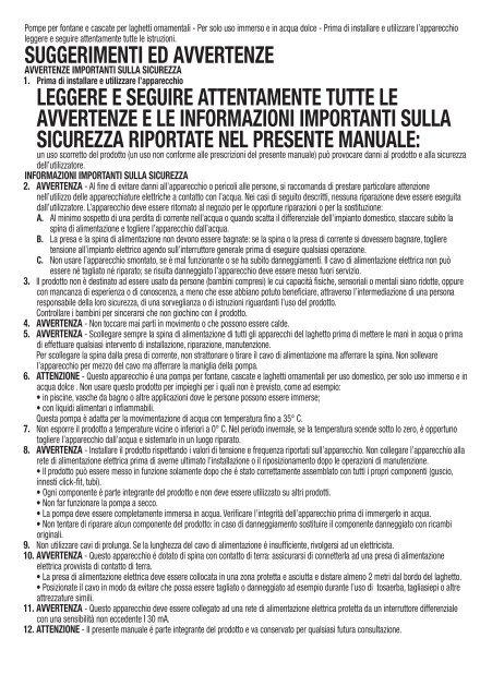 Manuale d'installazione e uso